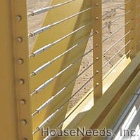 Hayn Lines Stainless Steel Wire - SC12519-500 installed as a wall or fence.