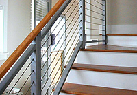 Hayn Lines Stainless Steel Wire - SC12519-500 installed as a stairs rail.