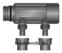 Heatlink EasyFit Plumbing Pex Manifold 2 Port 22002