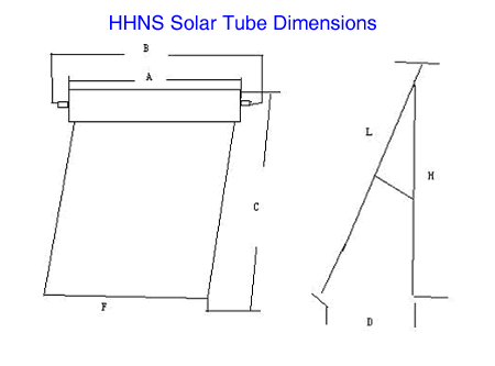 HHNS Solar Evacuated Tubes Kit - 10 Tubes and Manifold Kit - HMC10-58/180
