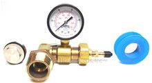 Pressure Test Kit with 1 inch by 1/2 inch PEX bushing and teflon tape