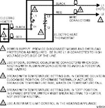 Honeywell Line Volt Thermostat For Electric Heaters - T410B1004 Double Pole Thermostat Wiring Diagram