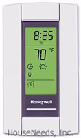 Honeywell Thermostat - Line Volt Pro 8000 - Electronic Line Voltage - Double Pole - TL8230A1003 Closed Cover