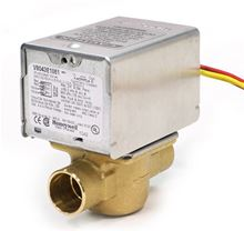 Honeywell Zone Valve with 3/4 inch and 24 volt With Lead Wires - V8043B1027. Used for Hydronic Heating Systems