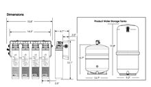 Pura Quick Change Ultra-Filtration Residential Drinking Water System Dimensions