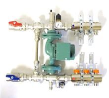Housepex Manifold Mixing and Pump Module With 5 Port Housepex Manifold With 5/8 Inch Adaptors