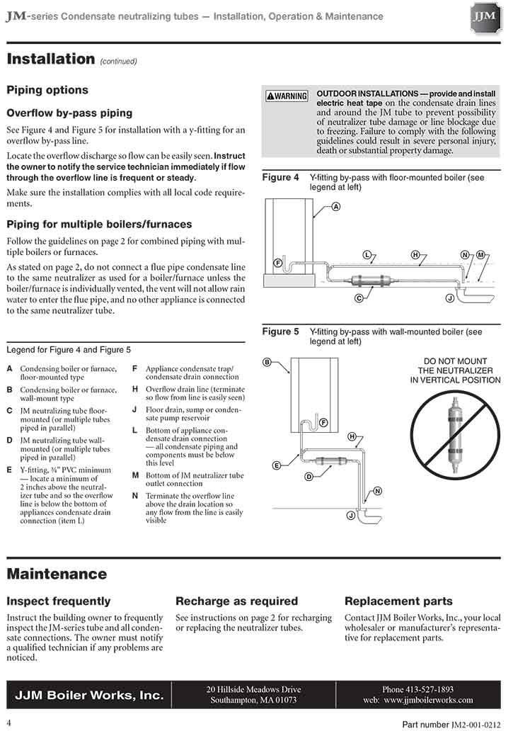 JJM Boiler Works - JM-3 PH Neutralizer ReFill Kit - Clear - JM-3RC