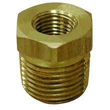 Bronze Fitting Hex Bushing 1 1/2 inch male by 1 inch female - B74-223