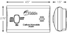 Kidde Carbon Monoxide Alarm Battery KN-COB-B-LPM 9C05 - 21008908 Diagram