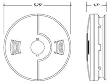 Kidde Carbon Monoxide / Smoke Alarm Battery KN-COSM-XRT-B - 21007450 Diagram