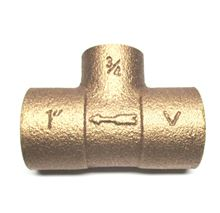 Legend Monoflow Tee - 3/4 inch by 1/2 inch connection - Bronze - Scoop Style - T-570 - 302-203