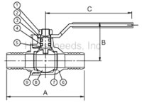 Legend Pex Ball Valve - Lead Free - Forged Brass 1/2 inch Pex by 1/2 inch Pex Connections - T-806 - 101-585NL Diagram