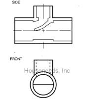 Legend Monoflow Tee - Bronze - Scoop Style - T-570 - 302-203 Mono Flo Tee Diagram