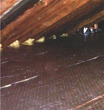 Low-E 4PMPA Aluminum Foil Poly Foam Foil Insulation 1/4 thick X 125 feet long X 4 feet wide - 4PMPA. Example of Insulation for Attic Floors