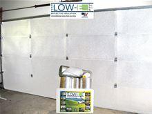 Low-e Simple Solution Garage Door Kit - Foil/Foam/Foil One Car Garage - SSR-1GDKFW Installed (Shows Silver not White Foil)