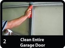 Low-e Simple Solution Garage Door Kit - Foil/Foam/Foil Two Car Garage - SSR-2GDKFW install by cleaning area