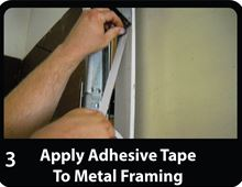 Low-e Simple Solution Garage Door Kit - Foil/Foam/Foil One Car Garage - SSR-1GDKFW install attach tape