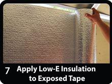 Low-e Simple Solution Garage Door Kit - Foil/Foam/Foil One Car Garage - SSR-1GDKFW install attach foil (Shows Silver not White Foil)