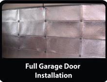 Low-e Simple Solution Garage Door Kit - Foil/Foam/Foil One Car Garage - SSR-1GDKFW installed White Foil (Shows Silver not White Foil)