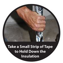 Low-e Simple Solution Pipe Wrap Kit - Foil/Foil - 12.5 Square Feet - SSR-PWKFF Installing Tape over seams
