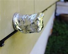 Low-e Simple Solution Pipe Wrap Kit - Foil/Foil - 12.5 Square Feet - SSR-PWKFF Installed over a Faucet