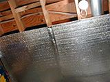 Poly Foam Foil Insulation 1/4 in X 125 ft X 4 ft
