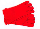 Minuteman Small Hearth Gloves Red - A-12
