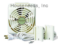 Minuteman Room To Room Doorway Fan - 2 Speed - 60/90 CFM - includes 10 foot cord - Plastic Housing - Beige - F-10