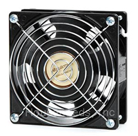 Minuteman Room To Room Doorway Fan - Single Speed - 55 CFM - includes 11 foot cord - Aluminum Housing - Black - F-11