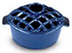Minuteman 2.2 Quart Enamel Steamer Lattice Top Blue - T-50BL
