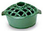 Minuteman 2.2 Quart Enamel Steamer Lattice Top Green - T-50GR