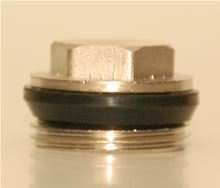 Mr. PEX Basic Manifold End Cap - 121 - 3610002. Caps the MR PEX Manifolds which have 1 inch BSP thread Side view