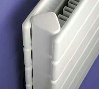 Hydronic Myson 3H11120-VN Decor Radiator Double Panel with Fins Close up View