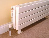Myson Close up of Decor Myson 8H22060 Radiator in a Room with an Optional Thermostat and with a Double Panel