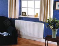 Myson 21G SX4070-VN Select Series Panel Radiator in Blue Room