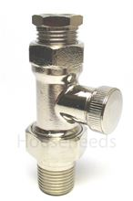 Myson 1/2 inch Adjustable Locking Flow Valve - LKD16SN for Décor and Select Series Radiators