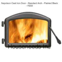 Napoleon Cast Iron Door Painted Black - H222