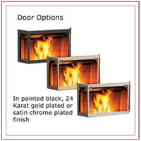 Napoleon Door For NPS45 Pellet Stove - Painted Black GS328-1K