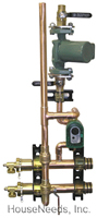 Precision Hydronics Secondary Loop Components 2 Zones 3 Way I-Valve Mix Module with Taco Pump Sweat Connections - PHP-PM3WIMV-2TSW