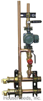 Precision Hydronics Secondary Loop Components 3 Zone Manual Mix Module with Taco Pump Sweat Connections - PHP-PM3WCAMV-3TSW