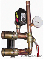 Precision Hydronics Secondary Loop Components 2 Zone Valve component module with Sweat Connections - PHP-PMZVCM-2SW