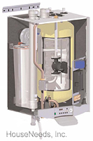 Triangle Tube Prestige Excellence Combination Condensing Boiler With Trimax Controller - Natural Gas - PTE110-NG Cut A Way View