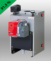 Firebird Condensing Oil Boiler - External Riello Burner with Hydrolevel 3250 Aquastat - 81-121 MBH - FB P120 HYDRO