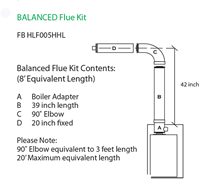 Firebird Condensing Oil Boiler - Concentric Flue Kit - 8 Foot Equivalent Length - FB HLF005HHL