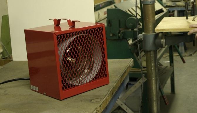 Garage Attic Fan >> Qmark BRH-402 Electric Garage Heater. Marley Portable Electric Heaters