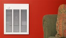 Qmark Marley Electric Space Heater LFK484F in a red room