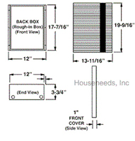 QMark Electric Heater Smart Series HT2024SS. Marley HT2024SS Faceplate Dimensions