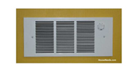 Qmark QFG Electric Wall Heater - 275 Watts 750 Watts 1125 Watts 1500 Watts - 120 Volt With Thermostat - QFG1512T2M Installed
