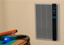 QMark Electric Heater Smart Series HT2024SS. Marley HT2024SS Faceplate Installed on a wall