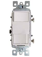 Quiet Cool Duplex Switch and Plate - Manual On/Off Control for up to Two Fans - White - IT-30020